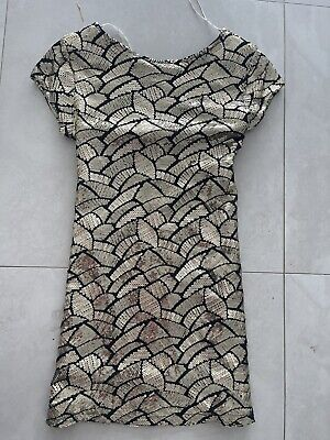 AU45 • Buy Sass &bide Dress 12 Worn Once Fashion Show Few Tiny Sequin Missing Not Noticed