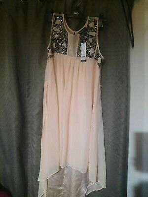 £14.99 • Buy BNWT Beautiful Party Night Out High Low Embellished Dress Sz 14 Warehouse