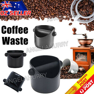 AU14.83 • Buy Coffee Waste Container Grinds Knock Box Tamper Tube Bin Black Bucket NEW