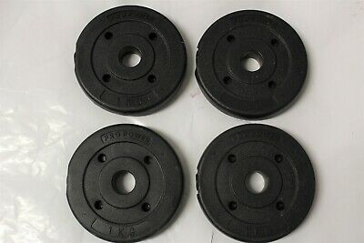 £16.95 • Buy 4x Pro Power 1kg Weight Plates  4 X 1kg