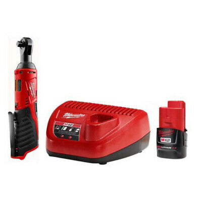 £115.82 • Buy Milwaukee M12 12V Cordless 3/8 In Ratchet Tool + Battery, Charger Combo Kit