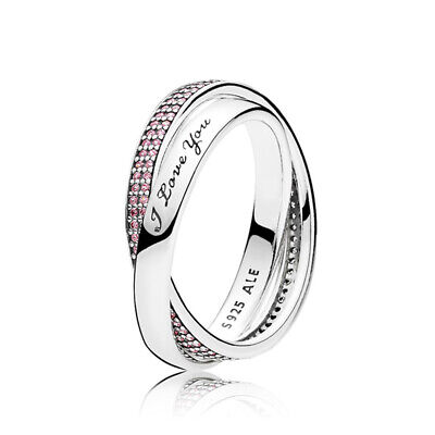 £24.19 • Buy UK NEW Pandora Ring Sweet Promise Ring Pink CZ 196546PCZ Brand New Free Pouch
