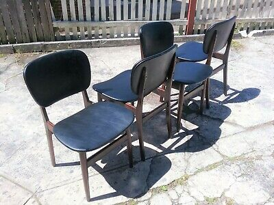 AU650 • Buy Mid Century Modern Dining Chairs X 4 Late 60's Early 70's