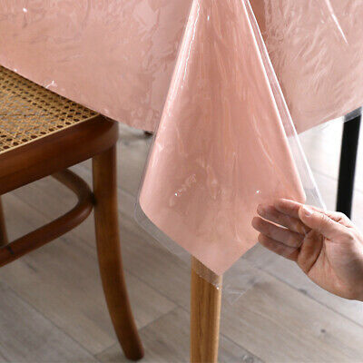AU9.99 • Buy Tablecloth Clear Plastic Waterproof Transparent Heavy Duty Dining Table Cover