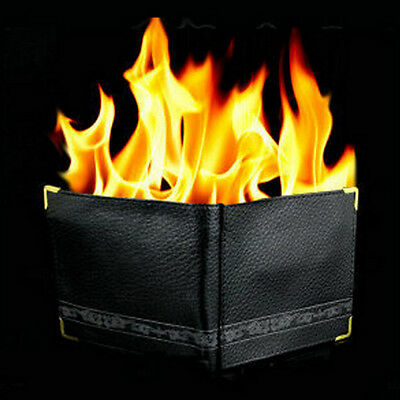 £6.16 • Buy Magic Trick Flame Fire Wallet Leather Magician Stage Perform Street CLop ShoH ZK