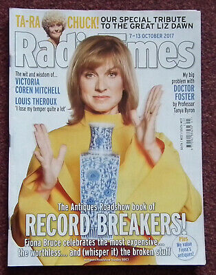 £2.05 • Buy RADIO TIMES MAGAZINE 7th - 13th October 2017 - Fiona Bruce & Antiques Road Show