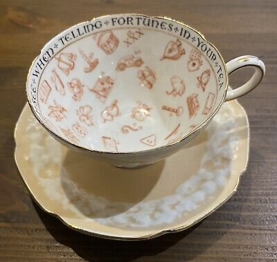 £23 • Buy Vintage Paragon China Fortune Teller Teller's Cup & Saucer 🔮