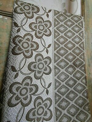 £19.99 • Buy Vintage Brown Patterned Long Curtains. Mid Century Modern. 120x214cmL 60s 70s