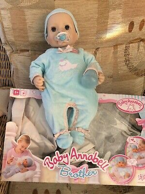£49.99 • Buy BOXED BABY ANNABELL Brother Alexander  Blue Body Heart +dummy +bottle Bib,nappy