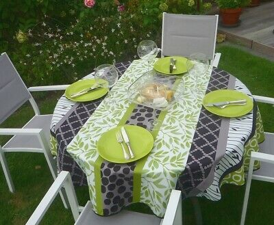 £16.31 • Buy Tablecloth Provence 160 CM Round Green Grey Vine From France Non-Iron