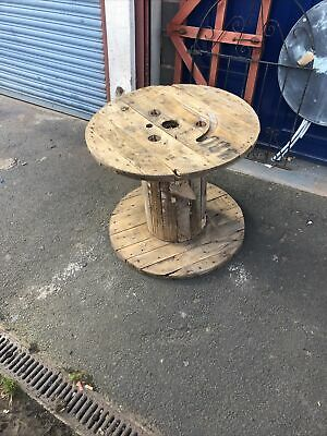 £30 • Buy XTRA LARGE WOODEN CABLE DRUM SPOOL MAKE IDEAL GARDEN OR MAN CAVE 67 Cms High