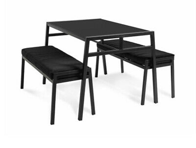 AU399 • Buy Dining Table And Benches 3 Pieces Furniture Set Black