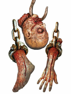 £4.95 • Buy Halloween Horror Dungeon Themed Severed Body Part Cut Outs Pack Of 3