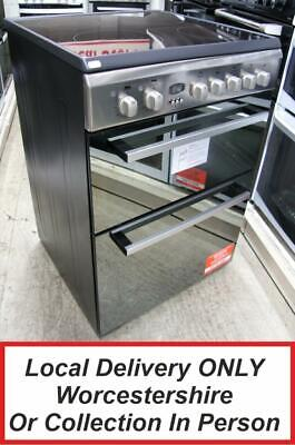 £429.99 • Buy Indesit DD60C2CX Stainless Steel Electric Cooker Double Oven 60cm PEC NEW MG