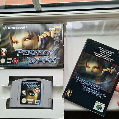 AU51.50 • Buy Perfect Dark Nintendo 64 N64 Pal Game Complete Collectors Boxed With Manual CIB