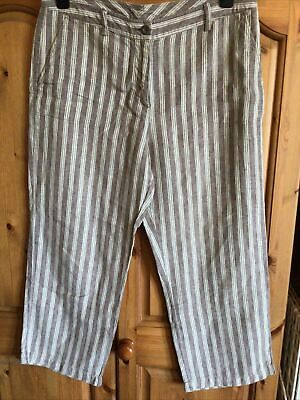 £3.99 • Buy Boden Ladies Cropped Trousers, Striped, Uk 14 R, W34 L24
