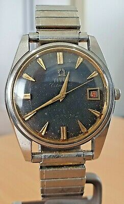 £36.38 • Buy Vintage Titus SS Black Dial 25 Jewel Automatic Watch