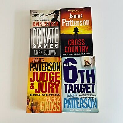 AU29.95 • Buy James Patterson 4x Book Bundle Private Games Cross Country Judge Jury 6th Target