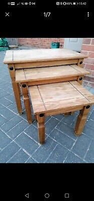 £15 • Buy Corona Mexican Pine Nest Of Tables