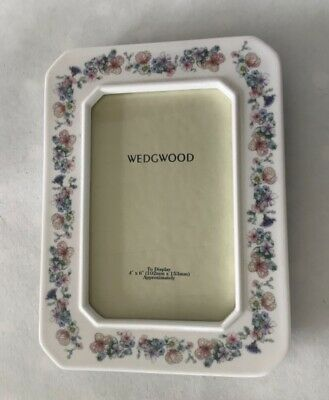 £4.99 • Buy Vintage Wedgwood 'ANGELA' Bone China Pictures Frame With Flower Design With Box