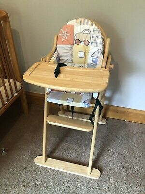 £7.50 • Buy East Coast Baby Toddler Wooden High Chair