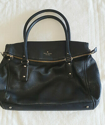 AU45 • Buy Kate Spade New York Bag Leather Shoulder Bag With Black And White Lining