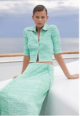 AU288 • Buy Scanlan Theodore Pleated Rib Shirt 14 Size XS Sold Out Spr/Summer 20/21 As New