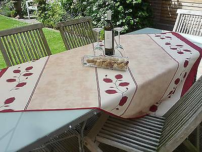 £14.82 • Buy Tablecloth Provence 130x150 CM Beige Red France And Easy-Care Non-Iron