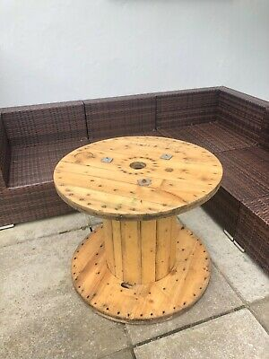 £50 • Buy Large Wooden Cable Drum  Make Ideal Retro Garden Or  Man Cave