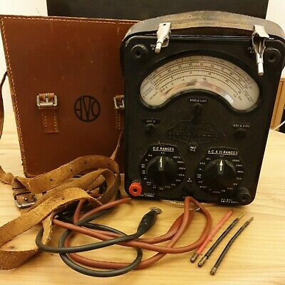 £17 • Buy Vintage Avometer 8 Mk2 With Leather Handle Clips Leads And Case. Working Order