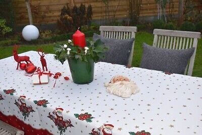 £26 • Buy Tablecloth Provence 150x300 CM Red White Christmas From France Non-Iron