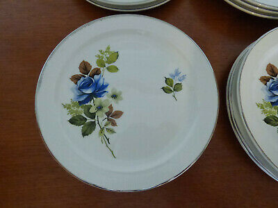 £15 • Buy Vintage Porcelain Barratts Of Staffordshire Side Plates Delphatic White Ironston