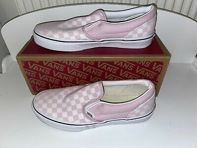 £25 • Buy Classic Pink And White Slip On Vans Size 5.5