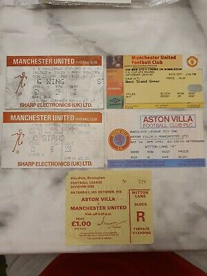 £0.99 • Buy 5x Manchester United Tickets 1978-1997 (Steve Coppell Testimonial) Lot 14/27