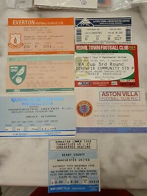 £0.99 • Buy 7x Manchester United Away Tickets 1990-91 Lot 15/27