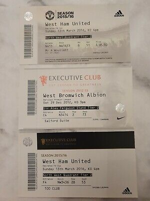 £0.99 • Buy 3x Manchester United Tickets 2012-16 FA Cup (West Ham) Lot 22/27