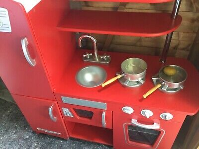 £35 • Buy Used ELC Red Wooden Childrens Play Kitchen