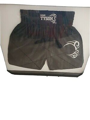 AU500 • Buy Signed Mike Tyson Boxing Trunks In Glass Frame