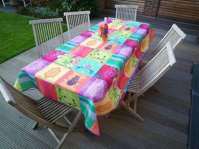 £26 • Buy Tablecloth Non-Iron Provence 150x300 CM Pink Green France Easy-Care