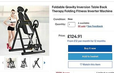 £28 • Buy NEW  Inversion Gravity Heavy Duty Table Already Assembled And Foldable.