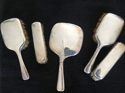 £41 • Buy Hallmarked Silver Backed Dressing Table Set Hairbrush Clothes Brush Mirror