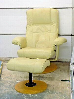 £25 • Buy Leather Faux Swivel Recliner Chair Armchair Foot Stool Lounge Sitting Room