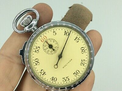 £21 • Buy Fantastic Antique Collectible Waltham Mechanical Pocket Stop Watch Fob Military