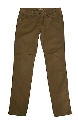 £8.99 • Buy Next Brown Denim Skinny Slimming Jeans Trousers 12R Cotton Mix Stretch Low Rise