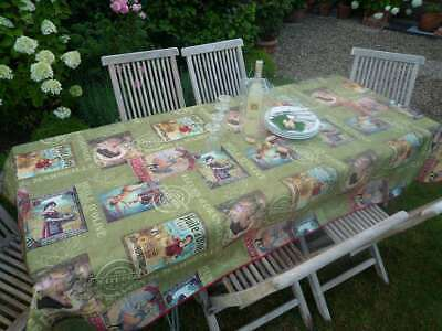 £26 • Buy Tablecloth Provence 150x300 CM Green Retro From France Easy-Care Non-Iron