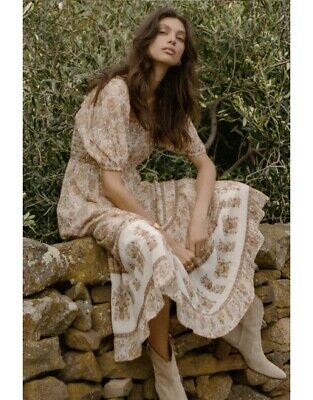 AU150 • Buy Spell And The Gypsy Juniper Shirred Dress Size M