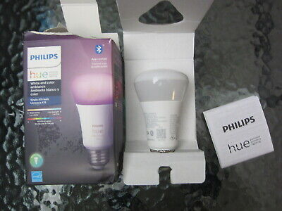 AU37.21 • Buy Philips Hue White And Color Ambiance A19 LED Smart Bulb , 548487
