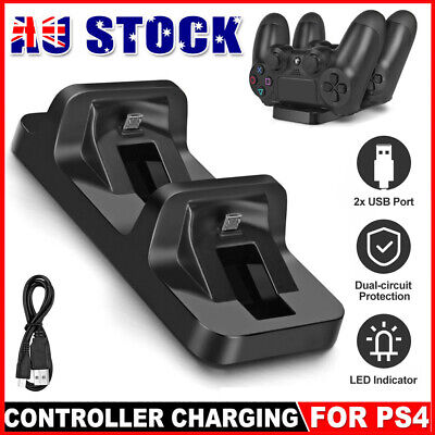 AU15.90 • Buy For PS4 Dual Charging Charger Dock Station Stand For Playstation 4 Controller Pa