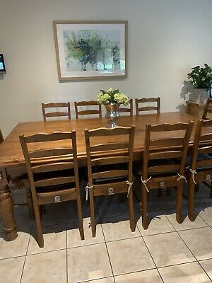 AU500 • Buy Early Settler 12 Seater Dining Table And Chairs