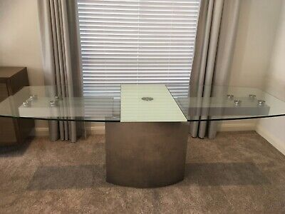 AU50 • Buy Glass Top Extension Dining Table